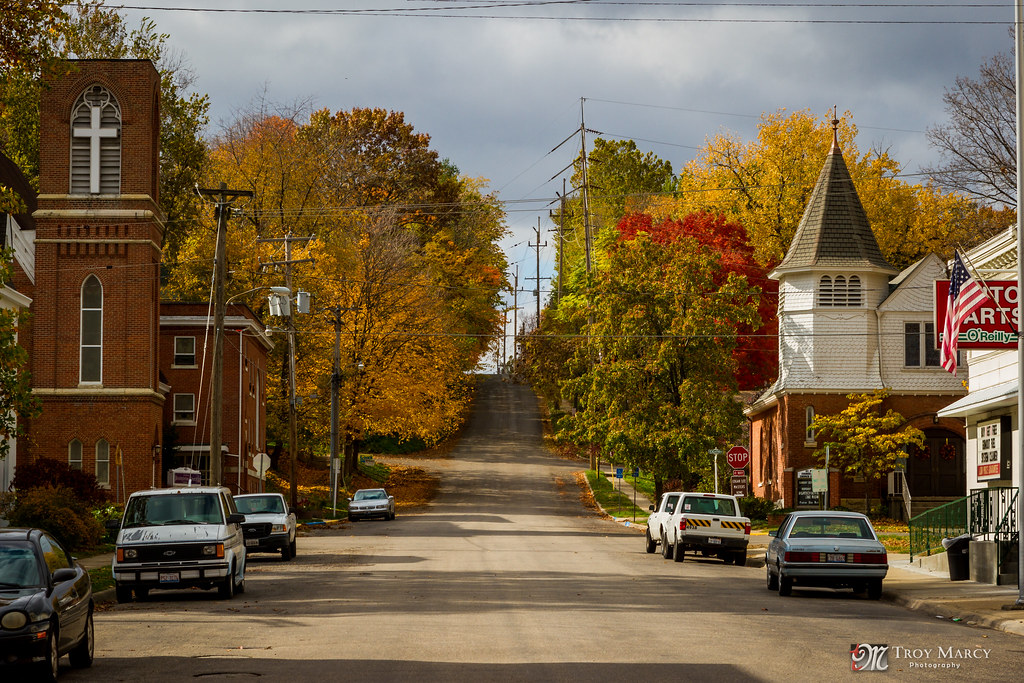 Small Town America Petersburg Il I Was Visiting My