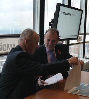 Secretary of State Ed Davey signing MOU with Sir Richard Leese on behalf of Greater Manchester Authorities | by DECCgovuk