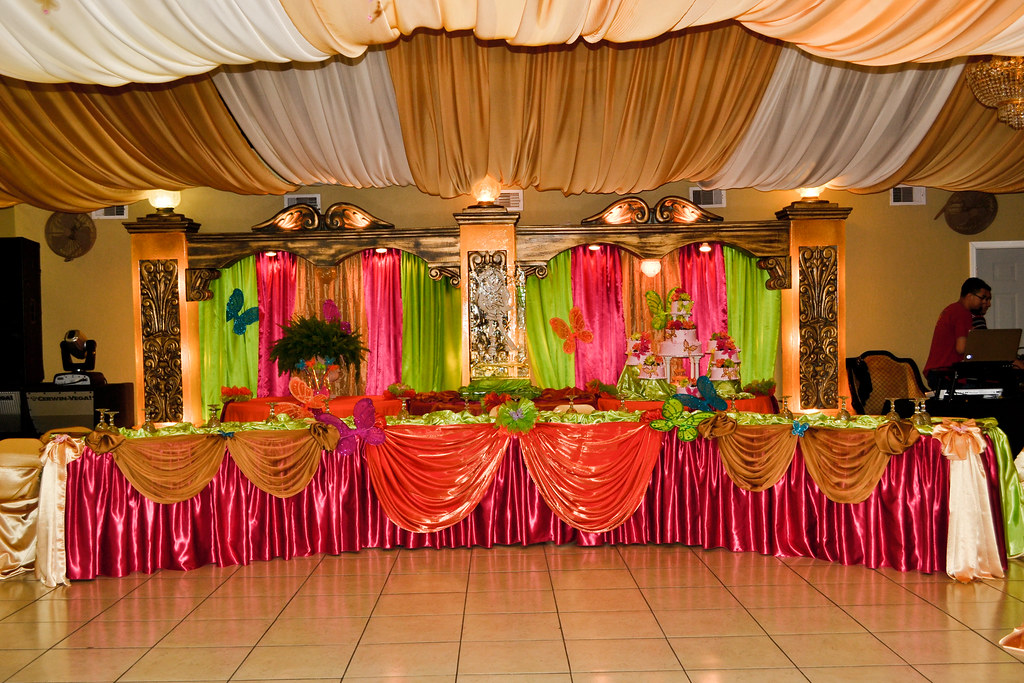 Rincon Real Reception Hall Quinceanera Main Tables Decorat Flickr
