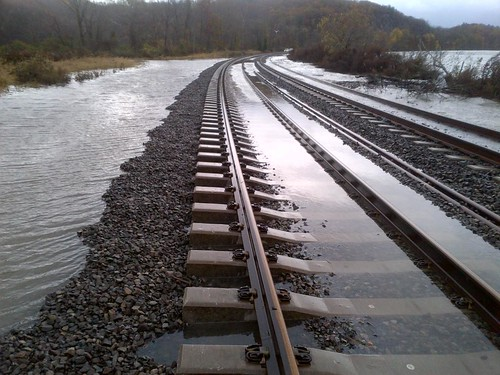 Flooding on the tracks north of MNR's Garrison Station - different direction | by MTAPhotos