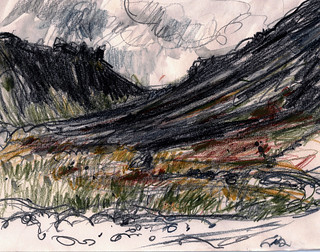 Iceland sketch budir west copy | by Laura Frankstone
