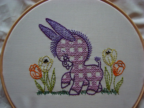 Donkey embroidery | by Charm About You