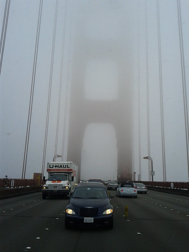 Driving across the Golden Gate Bridge on our morning commute (foggy) | by Christoph Derndorfer