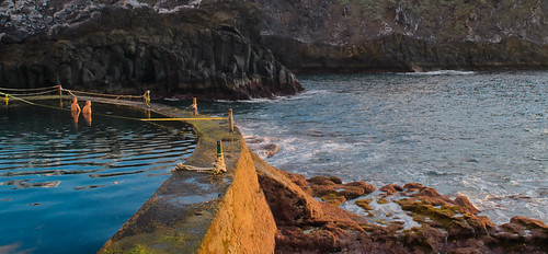 The natural pool at Crab Island, Los Gigantes, Tenerife. By Thomas Tolkien | by Thomas Tolkien