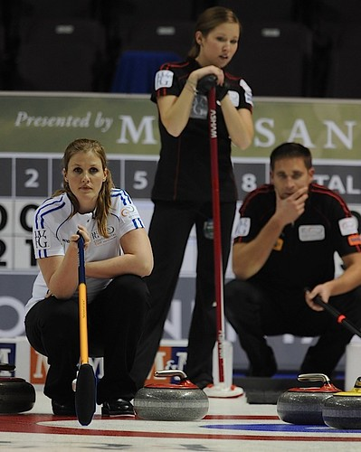 Penticon B.C.Jan10_2013.World Financial Group Curling.Team World Christina Bertrup,Team North America third Kaitlyn Lawes,third John Morris,CCA/michael burns photo | by seasonofchampions