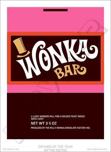 Wonka Bar Wrapper by Dizyner | logo designer im | Flickr