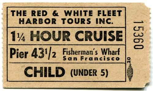 1940s san francisco red white fleet child under 5 ticket flickr. Black Bedroom Furniture Sets. Home Design Ideas