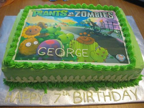 Zombie Sheet Cake