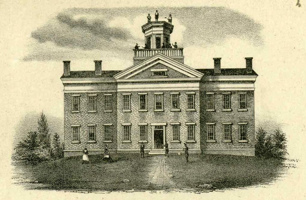 Western Reserve Eclectic Institute Hiram A Print 1857