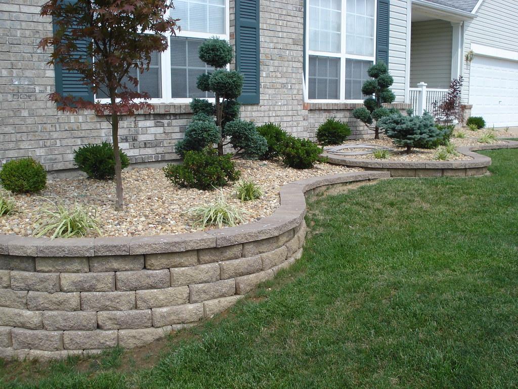 Front Yard Retaining Walls & Landscaping   O'Fallon ...