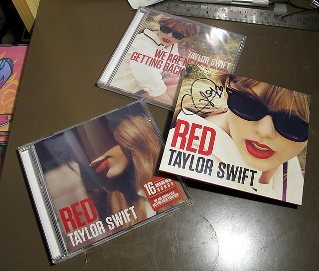 signed Taylor Swift RED album arrives 2 days early ...