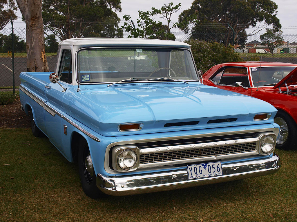 1965 chevrolet pickup pickup with class 54 ford customline flickr