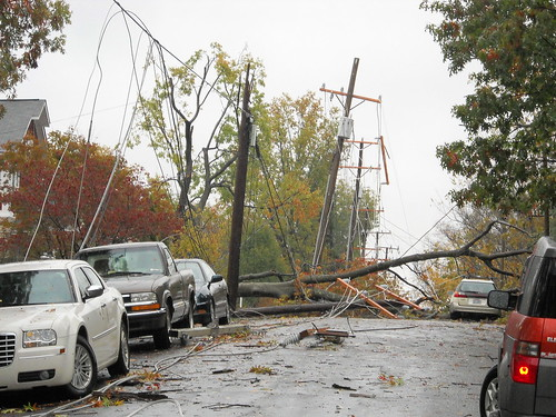 Storm Downed power lines and trees from Storm Sandy | by Arlington County