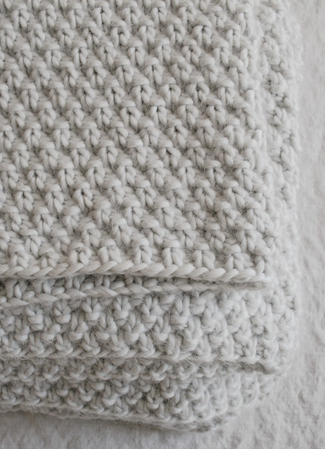 Double Seed Stitch Blanket Flickr Photo Sharing