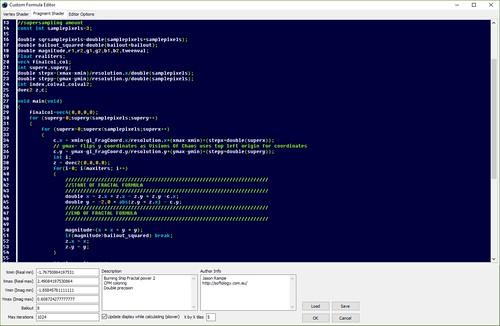 Visions of Chaos Formula Compiler