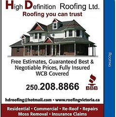 Nice Roofing Advertising Poster | By Roofing Victoria BC ...