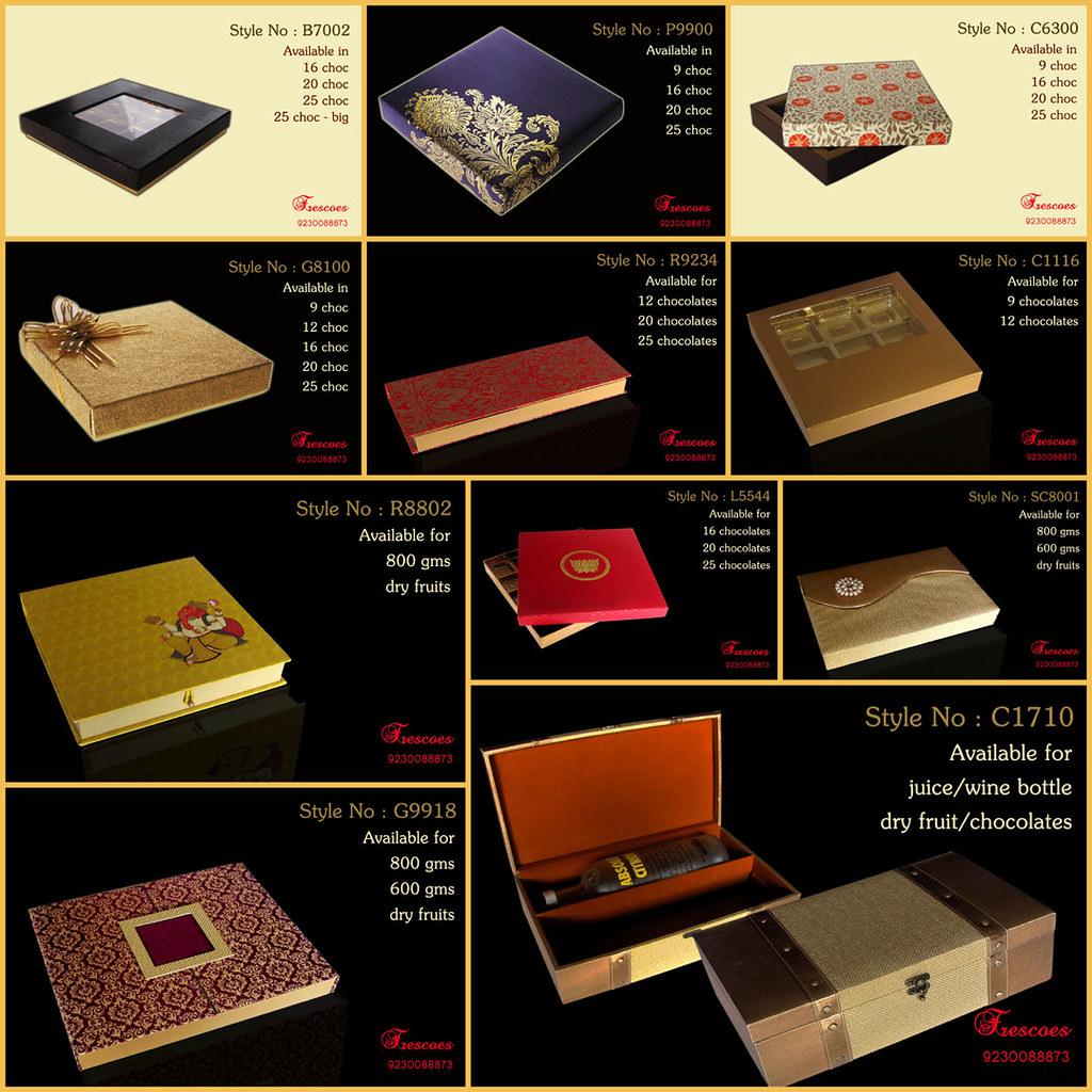 Wedding Boxes Chocolate Dryfruit Diwali Newyear Design
