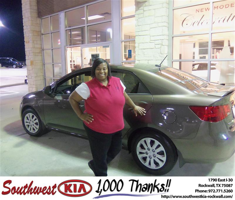 Congratulations To Faye Lester On The 2013 Kia Forte