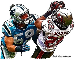 Tampa Bay Buccaneers Doug Martin - Carolina Panthers Luke Kuechly | by Jack Kurzenknabe