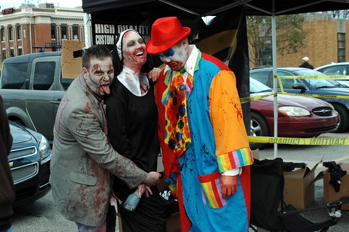 bad zombie naughty nun and a sad clown party in broad rip