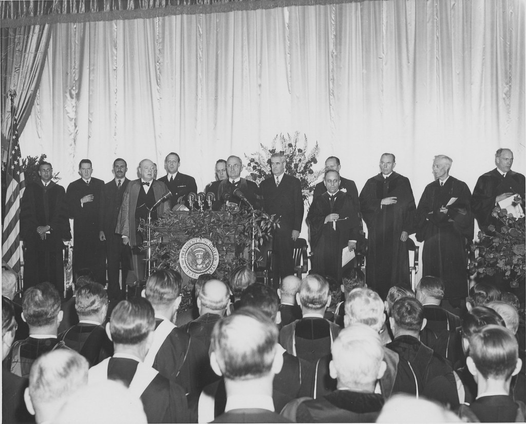 Iron curtain speech -  Missouristatearchives Winston Churchill Iron Curtain Speech At Westminster College Msa By Missouristatearchives