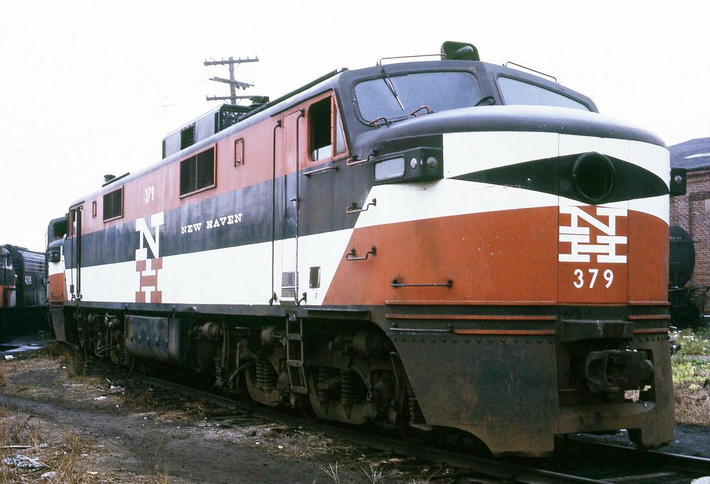New Haven Railroad GE EP-5 Motor (aka: Jet) # 377, is seen