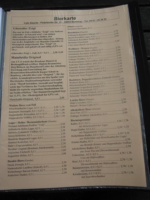 Cafe Abseits Bamberg Parken