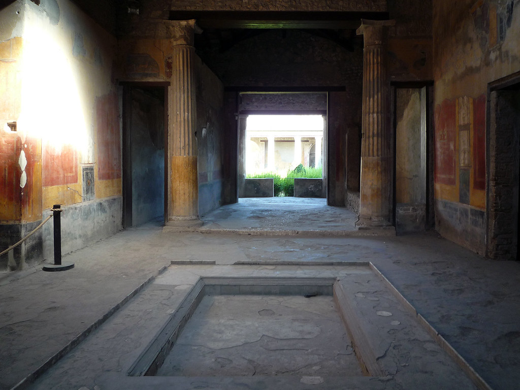Impluvium toward atrium house of menander pompeii flickr What is an atrium in a house