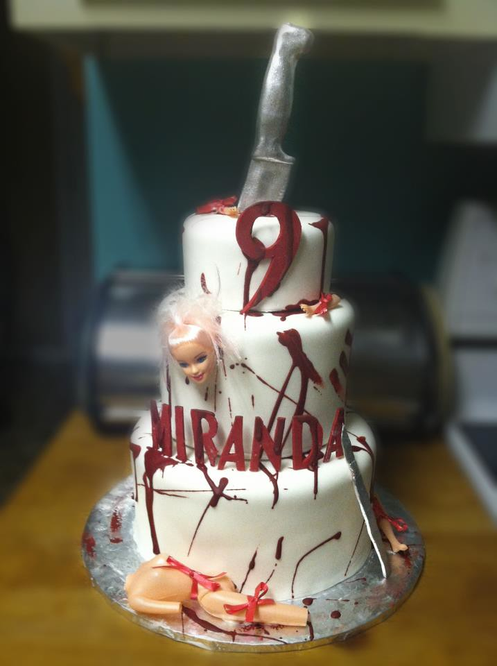 Dexter blood splatter three tier custom unique birthday ca ...