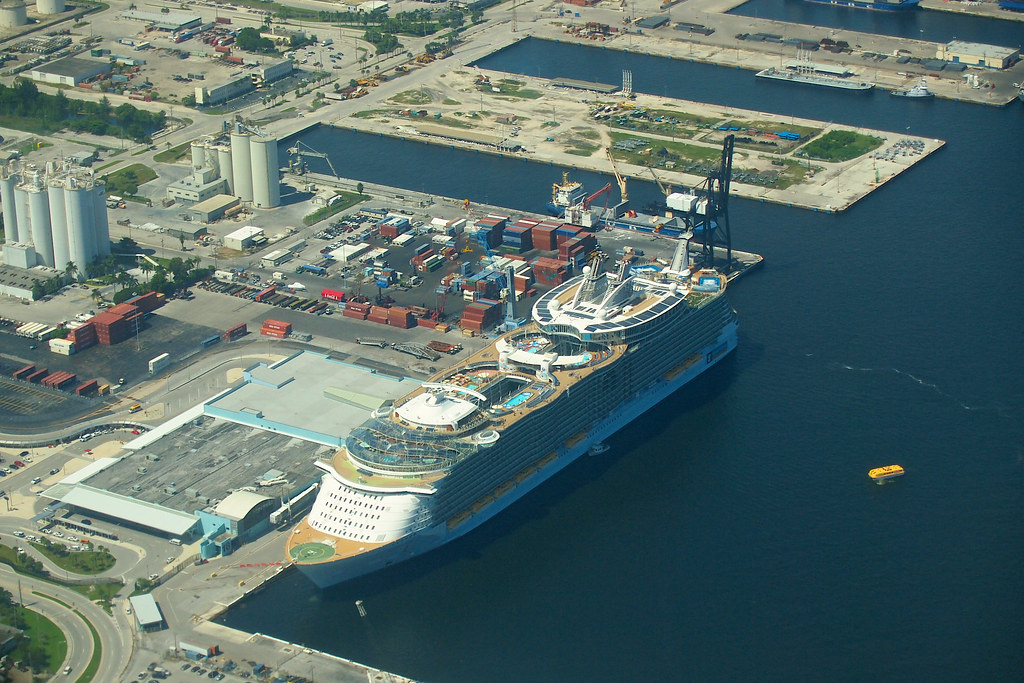 Oasis Of The Seas Docked In Port Everglades Fort Lauderd