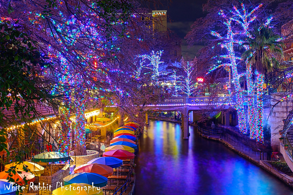 ... San Antonio Riverwalk ( Christmas lights ) | by Glenn Stuart ( White  Rabbit Photography ) - San Antonio Riverwalk ( Christmas Lights ) White Rabbit Ca… Flickr