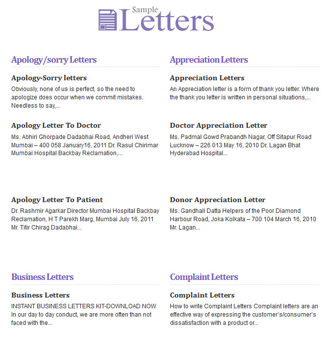 Sample Letters Know About The Different Types And Formats Flickr