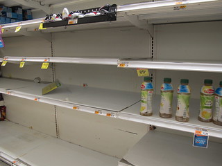 Empty store shelves before hurricane Sandy's arrival | by AndrewDallos