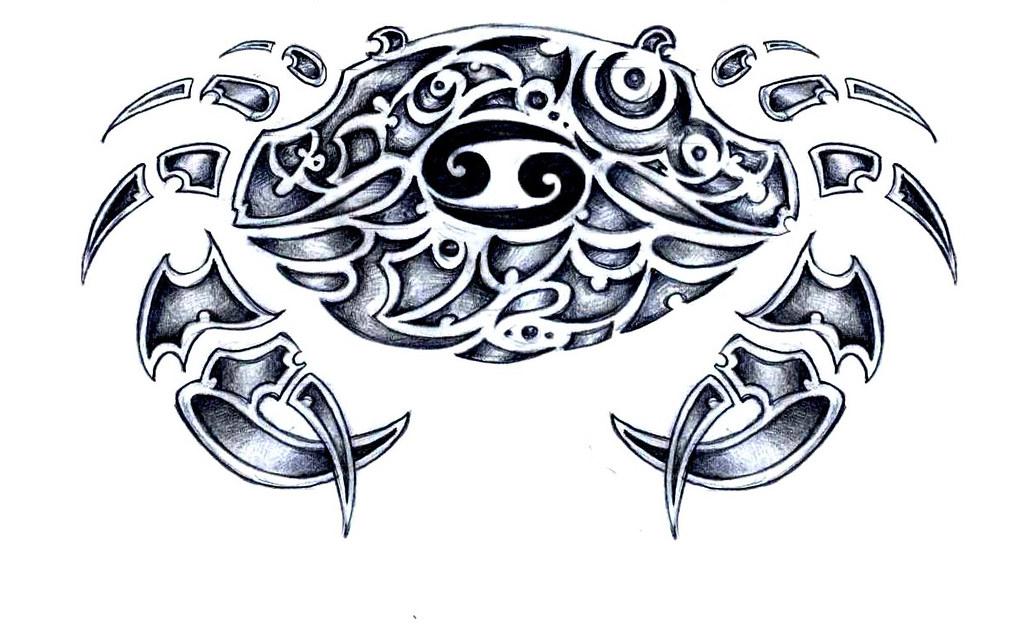cancer zodiac sign, a tribal tattoo sketch | a tribal tattoo… | flickr