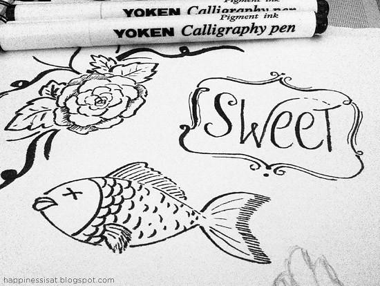 Calligraphy pen doodles noodlesndoodles flickr