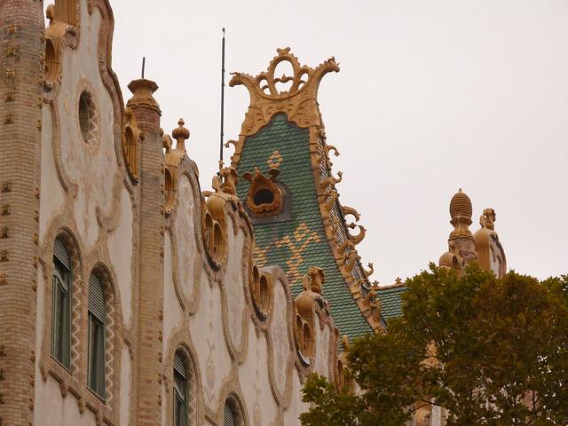 Tejado modernista en Budapest