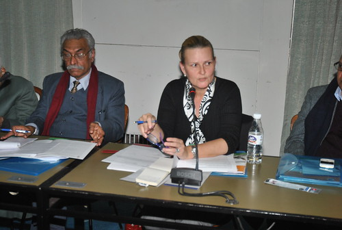 (from left to right) Dr. T.K. Oomen, Member, Sachar Committee, Lise Grande, United Nations Resident Coordinator and UNDP Resident Representative | by UNDP in India