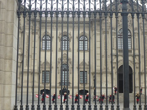 Changing of the guard at the presidential palace