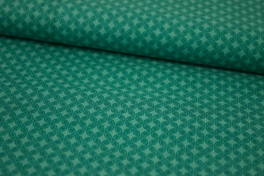 """Baumwollstoff """"Tiny Tiles"""", grün"""