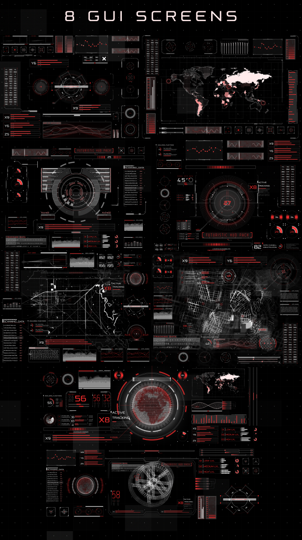 HUD Infographic (Technology) After Effects Templates | F5-Design com