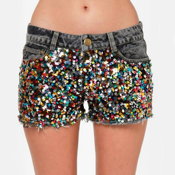 When cutoffs get as cool as the Confetti Cutoff Sequin Den… | Flickr