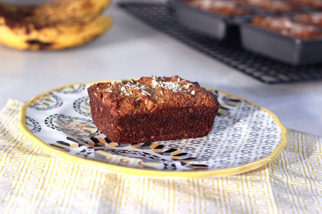 Grain-Free Banana Coconut Mini-Loaves - Gluten-free, Dairy-free + Refined Sugar-free