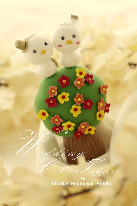Wedding Cake Topper-love bird with flower tree | www.etsy.co… | Flickr