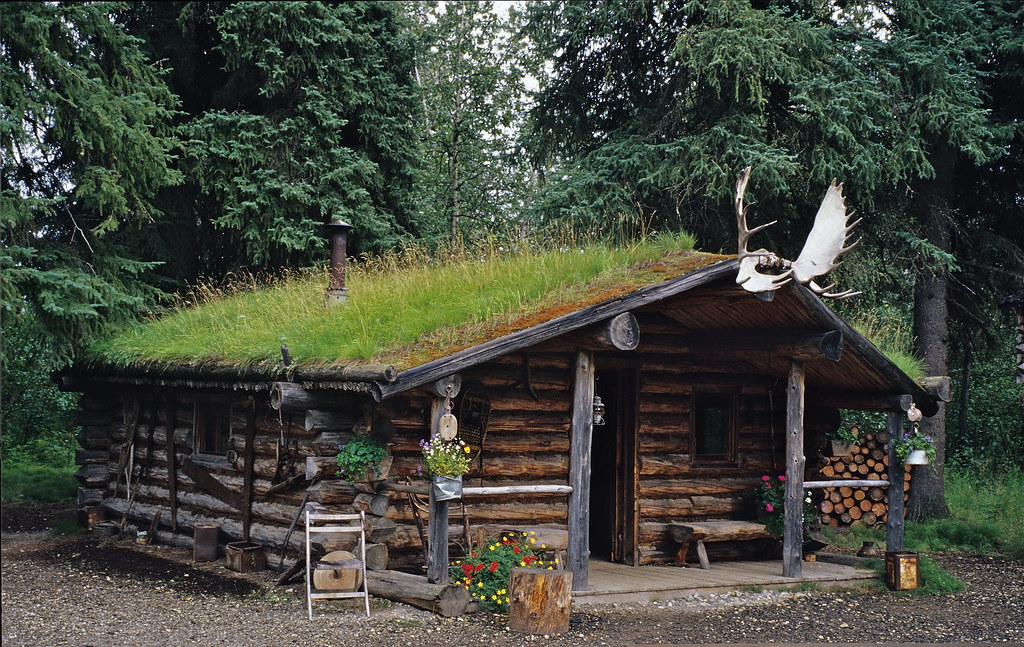 Log Cabin Used By The Athabascan Indians Chena Indian Vil