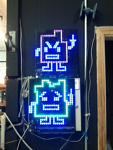 LED art at the Noisebridge hackerspace | by Christoph Derndorfer