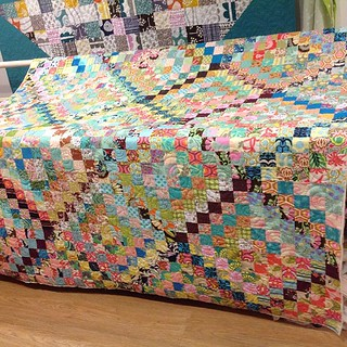 quilted ... now to find some binding :) #scrappytripalong | by Trudi-quiltingprolifically