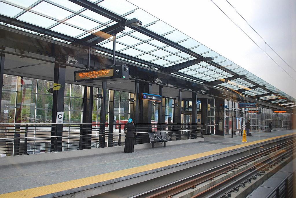 Inbound To Seattle On Link Light Rail Mount Baker Station