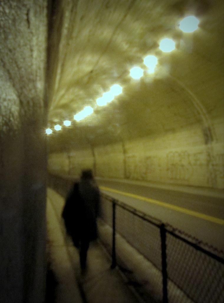 Northbrae tunnel walkway   by TJ Gehling