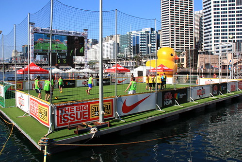 Sydney's Darling Harbour's floating 5-a-side  soccer pitch & duck [explored] | by CarlosSilvestre62