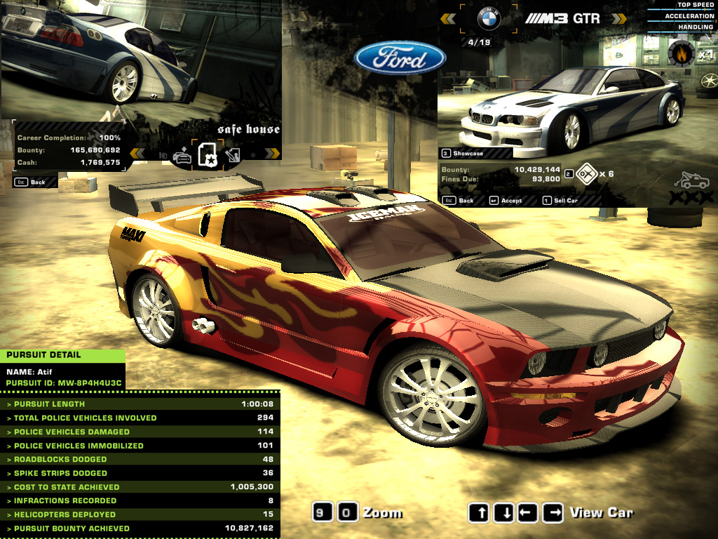Customize Ford Mustang Gt Need For Speed Most Wanted Nov  By  E  A